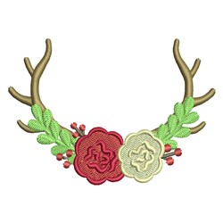 Christmas Antlers embroidery design