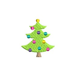 Christmas Tree Mini embroidery design