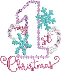 My 1st Christmas embroidery design