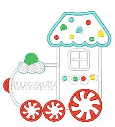Gingerbread Train Applique embroidery design