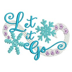 Let It Go embroidery design