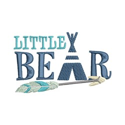Little Bear embroidery design