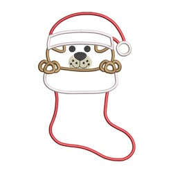 Puppy Stocking Applique embroidery design