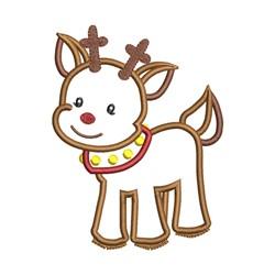 Reindeer Applique embroidery design