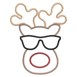 Reindeer Glasses embroidery design