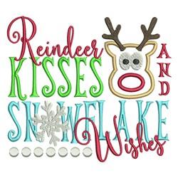 Reindeer Kisses embroidery design