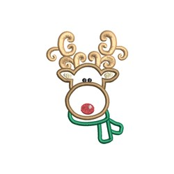 Reindeer Scarf Applique embroidery design