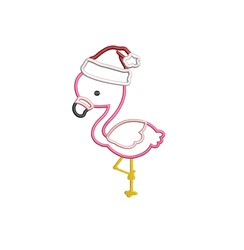 Santa Flamingo Applique embroidery design