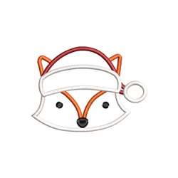 Santa Fox Applique embroidery design