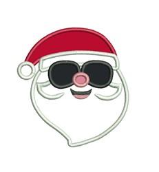 Santa Sunglasses embroidery design