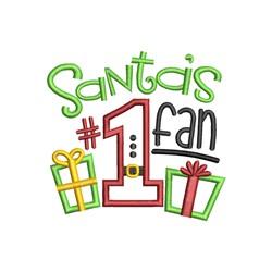 Santas Fan embroidery design