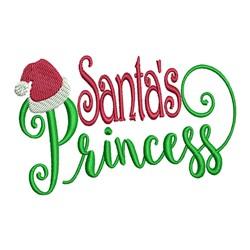 Santas Princess embroidery design