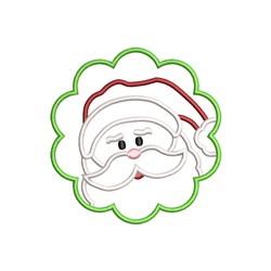 Santa Face Applique embroidery design
