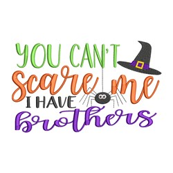 Cant Scare Me embroidery design
