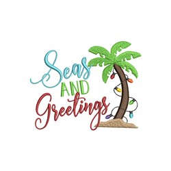 Seas And Greetings embroidery design