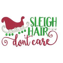 Sleigh Hair embroidery design