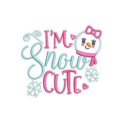 Snow Cute embroidery design