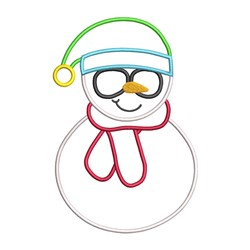 Snowman Glasses Applique embroidery design