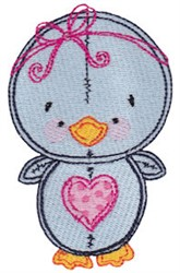 Baby Doll Bird embroidery design