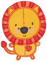 Baby Dolls Lion embroidery design