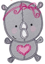 Baby Dolls Rhino embroidery design