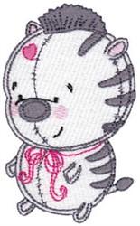 Baby Dolls Zebra embroidery design