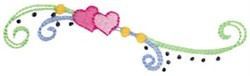 Baby Doll Swirl Embellishment embroidery design