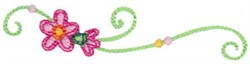 Baby Dolls Floral Swirls embroidery design