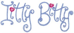 Baby Dolls Itty Bitty embroidery design