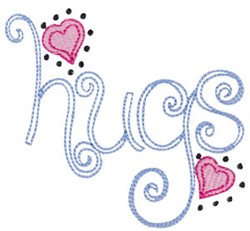 Baby Dolls Hugs embroidery design