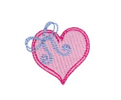 Baby Dolls Heart Bow embroidery design