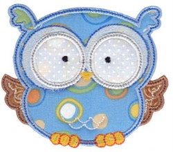 Forest Owl Applique embroidery design