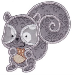 Forest Squirrel Applique embroidery design