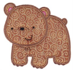 Forest Bear Applique embroidery design
