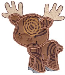 Forest Moose Applique embroidery design