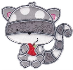 Forest Raccoon Applique embroidery design