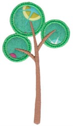 Forest Tree Applique embroidery design