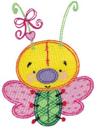 Baby Dolls Butterfly embroidery design