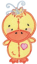 Baby Dolls Duckling embroidery design