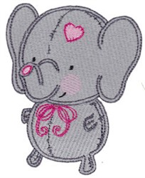 Baby Dolls Elephant embroidery design