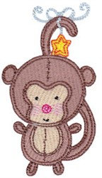 Baby Dolls Monkey embroidery design