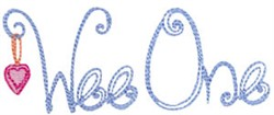 Wee One embroidery design
