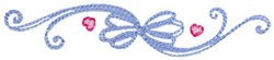 Baby Dolls Swirly Bow embroidery design