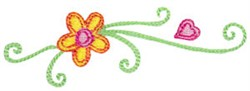 Baby Dolls Flower Swirls embroidery design