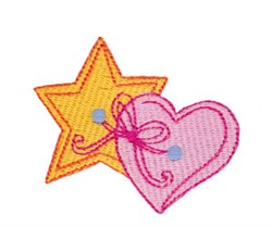 Baby Dolls Star And Heart embroidery design