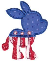 USA Donkey embroidery design