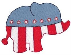 USA Elephant embroidery design