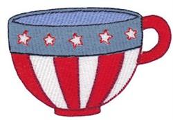 USA Mug embroidery design