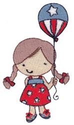 USA Girl embroidery design
