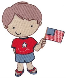 USA Boy embroidery design